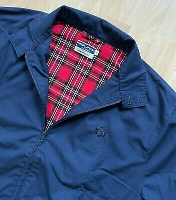 £89.99 • Buy FRED PERRY MADE IN ENGLAND NAVY BLUE REISSUES HARRINGTON JACKET L Mod Tartan