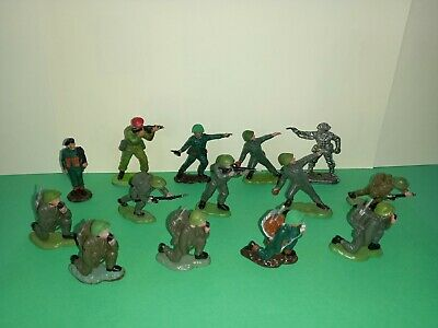 £3 • Buy BRITAINS HERALD WW2 OR MODERN SOLDIERS, X14, VGC, PLASTIC TOY SOLDIERS