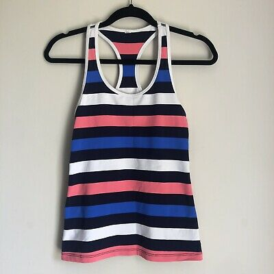 AU22 • Buy Lorna Jane Women's Striped Exercise Singlet Top Running Yoga Gym Size S