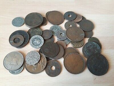 £5.50 • Buy Tin Of Foreign Coins 19th/20th Century