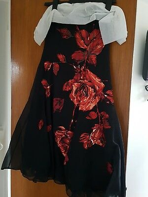 £59 • Buy COAST Size 12 Greta Rose Black Party / Summer Ball Dress  NWT Was £160 In Shops