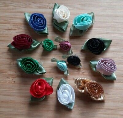 £8.99 • Buy 388 X Assorted Ribbon Roses - Small / Large / Double - Bumper Pack