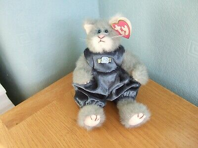 £1.99 • Buy Vintage TY Attic Treasures Collection  Whiskers  Grey/white  Cat- 1993