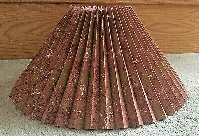 £22.99 • Buy  Retro Coolie Lampshade Terracotta Gold Pleated 21cm H X 37cm Ceiling Table Lamp