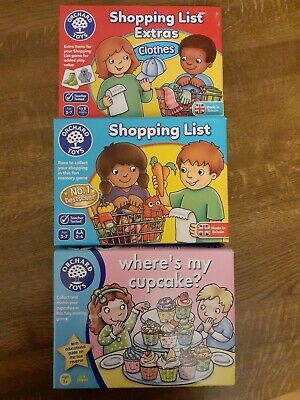 £4 • Buy Orchard Toys: Shopping List & Extras Booster Where's My Cupcake Games Bundle VGC