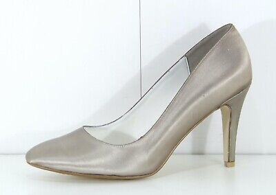 £1.99 • Buy SHADES Taupe Satin Bridal Special Occasion Ladies Court Shoes Size UK 9 NEW