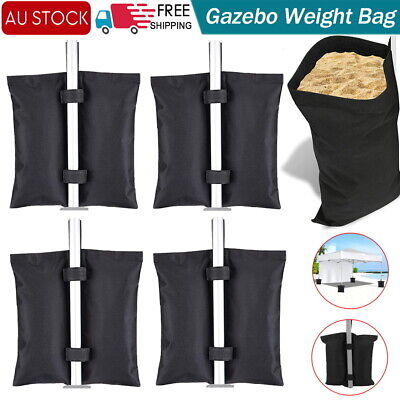 AU22.29 • Buy 4 PACK Garden Gazebo Foot Leg Feet Weights Sand Bags For Marquee Party Tent Set
