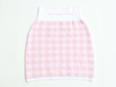 AU115 • Buy ALEXANDER WANG Women's Towel Cropped Gingham Skirt In Pink Size S