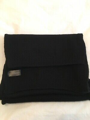 £25 • Buy JOHN LEWIS Cashmere Scarf Black NWOT 💖perfect For Christmas