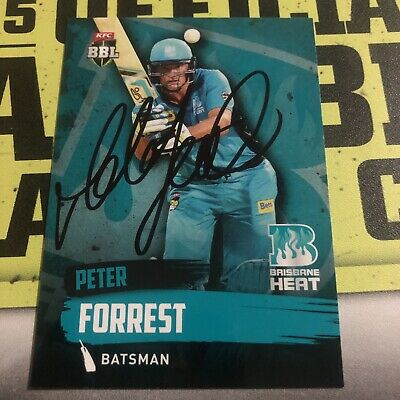 AU0.99 • Buy Peter Forrest Signed 2015/16 Tap N Play Card