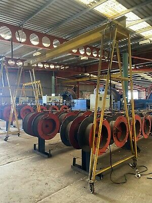 £795 • Buy Mobile A-frame Lifting Gantry. 500kg Capacity With Manual Trolley & Manual Hoist