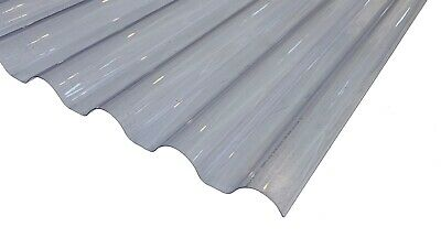 £100.99 • Buy 0.8mm 8ft Clear Plastic Corrugated Roofing Sheet, 660mm Wide, 77/20 Corolux