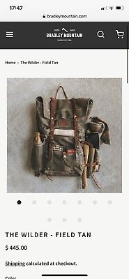 AU95.63 • Buy Bradley Mountain - The Wilder Backpack Rucksack In Charcoal And Tan Leather