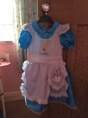 £2.20 • Buy Girls Alice In Wonderland Fancy Dress Costume 5-6 With Shoes And Headband