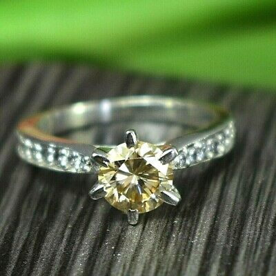 AU11.35 • Buy Gorgeous 1.50 Ct Champagne Diamond Ring With Accents Great Shine WATCH VIDEO