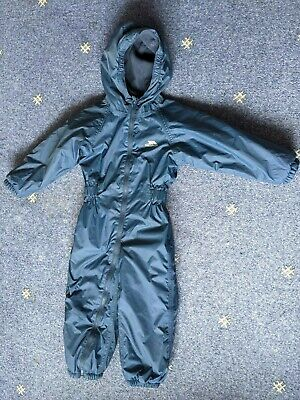 £11.25 • Buy Trespass Puddle Snow Waterproof Suit Blue 3-4 Years Hood Tres-tex Good Condition