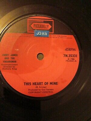 £72.50 • Buy Jimmy James & The Vagabonds This Heart Of Mine Og 1966 Piccadilly 7  45 7n.35331