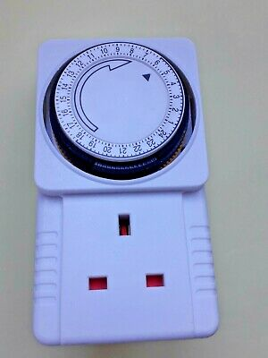 £1.59 • Buy 24 Hour Electrical Plug-in Timer Switch 24hr Timer, 3 Pin Adapter