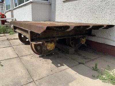 £75 • Buy Railway Carriage Bogie Full Size Rail Collector Rare 2ft6 Wheel Spacing