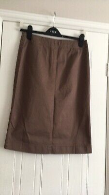 £4 • Buy Boden Brown 10 Chino Skirt New No Tags Cotton Unworn