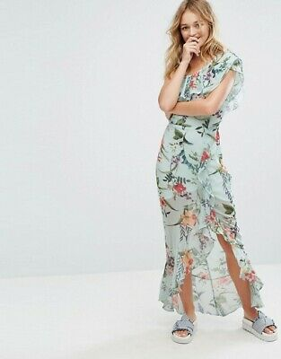 £4.99 • Buy NEW WITH TAGS BERSHKA Floral Printed One Shoulder Midi Dress UK S EUR S USA S