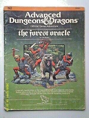 AU72 • Buy N2 The Forest Oracle Dungeons & Dragons Module D&D AD&D 1984 Complete
