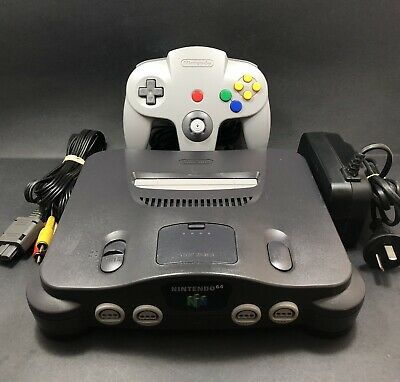 AU209 • Buy N64 Nintendo 64 Console [All Genuine Cables & Controller W/ 9-10 Toggle] AUS PAL