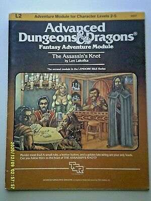 AU50 • Buy L2 The Assassin's Knot Dungeons & Dragons Ad&d Tsr 9057 - 1983