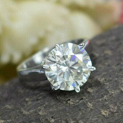 AU11.35 • Buy 3.45 Ct Off White Diamond Ring In Prong Setting. Great Shine & Bling WATCH VIDEO