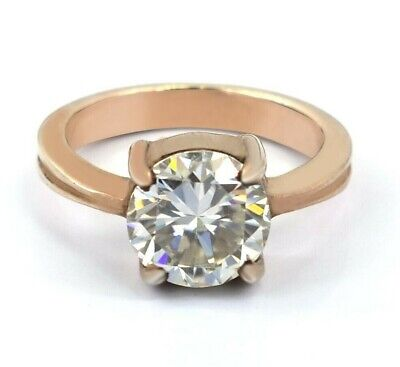 AU1.32 • Buy 2.50 Ct Off White Diamond Solitaire Ring In Rose Gold Amazing Shine & Bling !