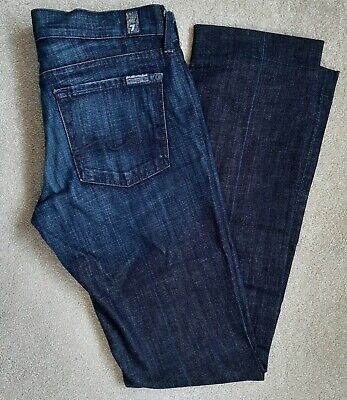 £10 • Buy 7 For All Mankind Ladies' Dark Blue Low Rise Straight Leg Jeans Size 28