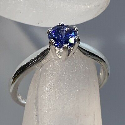 £8.30 • Buy Sterling 925 Silver  Tanzanite Solitaire Ring Size L