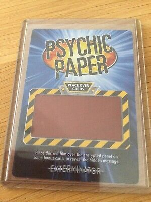 £2.99 • Buy Doctor Who - Battles In Time - BiT - Psychic Paper - MINT
