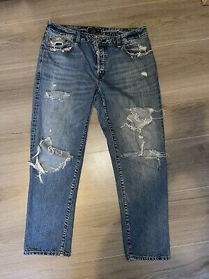 £8 • Buy Womens Abercrombie And Fitch Low Rise Boyfriend Jeans W28