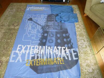 £8.99 • Buy Next Blue Dr Who Daleks Single Bed Duvet Cover, Pillow Case And Matching Bedding