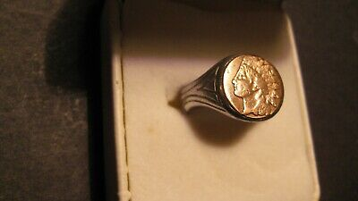 £19.99 • Buy Vintage/antique  Indian Head Ring Size 8 Or  P