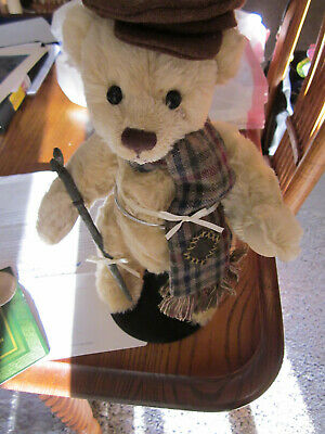 £12.68 • Buy FRANKLIN MINT 11    TINY TIM  STUFFED BEAR  LIL' DICKENS COLLECTION W/ Papers
