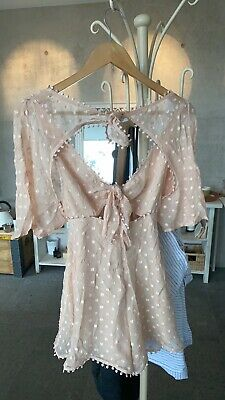 AU129.99 • Buy Alice Mccall Moon Talking Playsuit Nude / Light Pink Size 6, New!