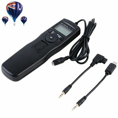 AU29.99 • Buy LCD Timer Remote Shutter S1 S2 Cable For Sony A7s A7R NEX-3NL A6000 RX100 II A65