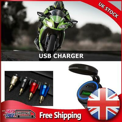 £13.61 • Buy DIN Plug To QC3.0 + PD USB Charger W/ LED Light For Motorcycle (Black+Blue)