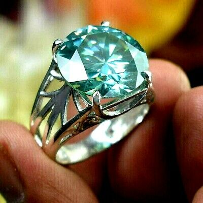 AU92.14 • Buy RARE 14.45 Ct Certified Blue Diamond Solitaire Ring, Great Shine WATCH VIDEO