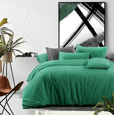 £48.23 • Buy Cotton Duvet Cover Set King Size Quilt Doona Cover With Pillowcases