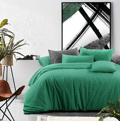 £42.81 • Buy Cotton Duvet Cover Set Queen Size Quilt Doona Cover With Pillowcases