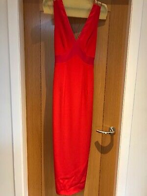 £35 • Buy AFTER SIX By RONALD JOYCE Red Evening Dress, Size 10