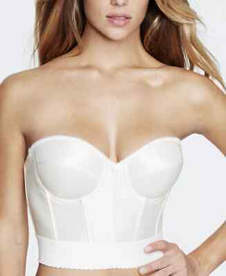 £18.07 • Buy Dominique Noemi Low Back Strapless Bustier 6377 - Ivory (36F) 1758