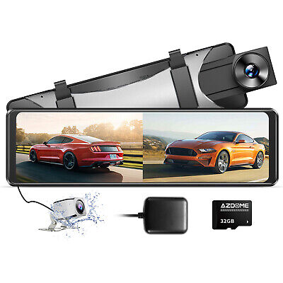 AU139 • Buy AZDOME 2.5K Mirror Dash Cam GPS 11  Touch Screen Front And Rear Dual Dash Camera