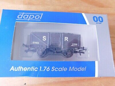 £5.99 • Buy Boxed 00 Scale Dapol 5 Plank Wagon With Coal Load, Custom-finished In SR Livery