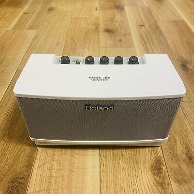 AU159.76 • Buy Roland CUBE Lite Monitor White CUBELMWH Portable Guitar Amp No Adapter & Box