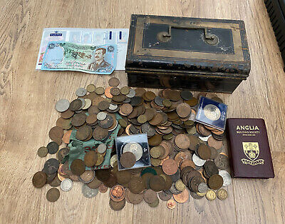 £16.51 • Buy Joblot Collection Of Old British & Foreign Coins In Tin 5.2kg House Clearance