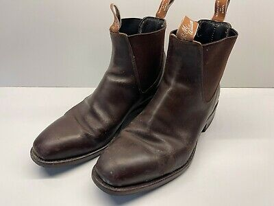 AU139 • Buy RM Williams Craftsman Chestnut Brown Mens Boots Size 7.5H PreLoved New Heel Caps